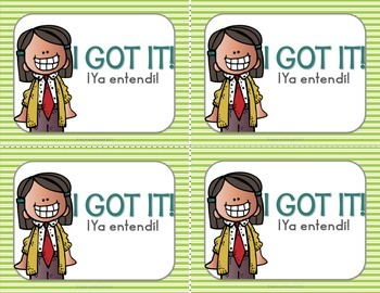 Check for Understanding Stoplight Cards {Bilingual}