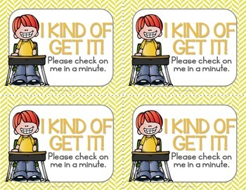 Check for Understanding Stoplight Cards {English}