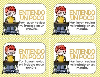 Check for Understanding Stoplight Cards {Spanish}
