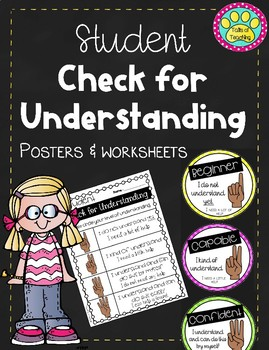 Levels of Understanding Student Self Assessment Posters and Worksheet/ Rubric