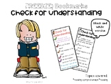 Check for Understanding bookmarks- Literacy Centers