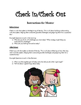 Check in/Check out Mentor Instructions