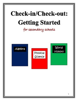 Check-in/Check-out Packet for Secondary Schools