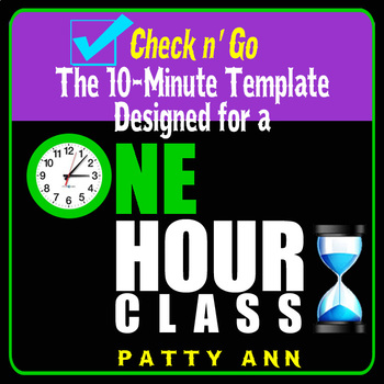 Check n' Go >10-Minute Class Plan Template for a 1-Hour Class >Editable Word Doc