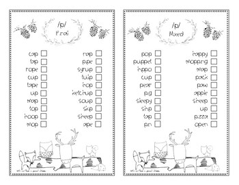 Check out...My Sounds: Articulation Checklist for Fall