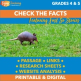 Check the Facts - Interpreting Information and Evaluating Text Features RI.4.7
