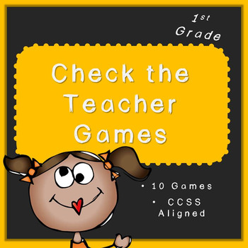Check the Teacher! (FULLY EDITABLE CCSS First Grade Math A