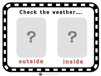 Check the Weather Language Feelings Activity