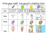 Check your work rubric, visual for students