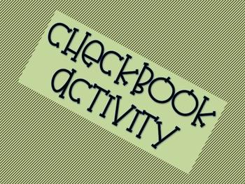 Checkbook Activity - Real Life Examples, Decimals