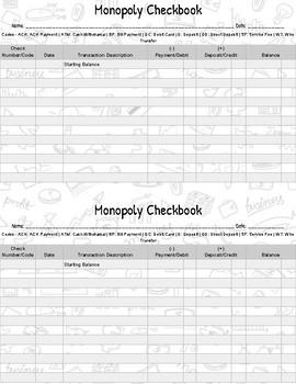 Checkbook Monopoly - Checkbooks