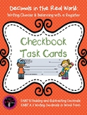 Checkbook and Registry Task Cards