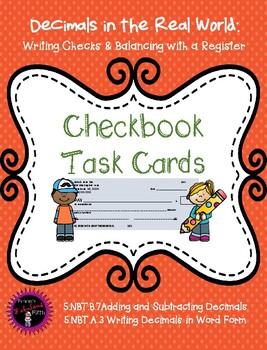 Checkbook and Registry Task Cards