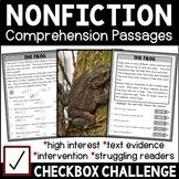 Non-fiction Reading Comprehension Passages