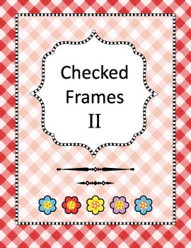 Checked Frames Set 2, Papers Included, Commercial Use Allowed