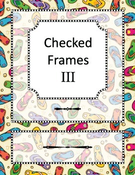 Checked Frames Set 3, Papers Included, Commercial Use Allowed