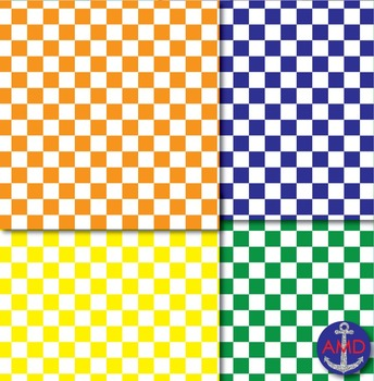 Checker Board Papers for Bulletins, Backgrounds & More