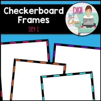 Checkerboard Frames clipart - Set 1