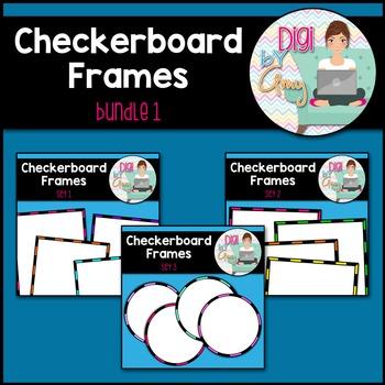 Checkerboard Frames clipart - Bundle 1