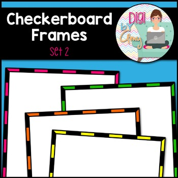 Square Frames - Checkerboard Frames clipart - Set 2