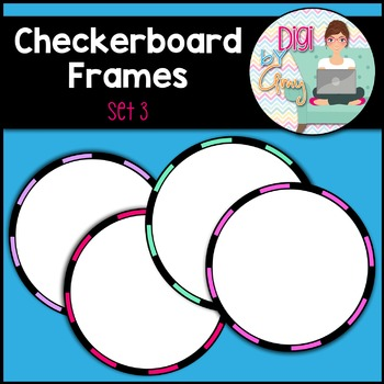 Checkerboard Circle Frames and Borders Clip Art