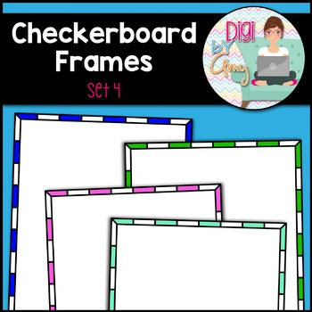 Checkerboard Frames and Borders Clip Art