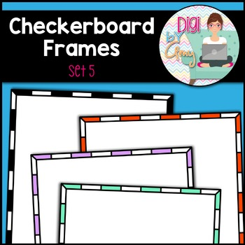 Square Frames - Checkerboard Frames clipart - Set 5