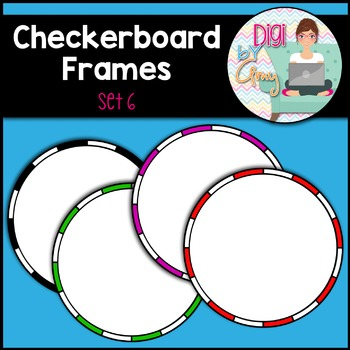Checkerboard Frames clipart - Set 6 (circle)