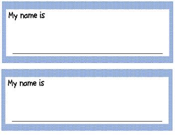 Checkerboard Name/Desk Plates