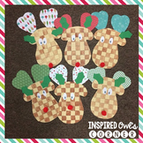 Checkerboard Reindeer Craft