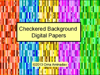 Checkered Background Digital Papers Freebie