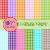 Checkered Backgrounds or Gingham Digital Paper Clip Art Commercial Use