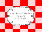 Checkered Binder Covers {EDITABLE}
