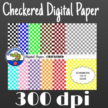 Checkered Digital Paper