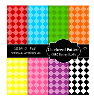 Checkered Pattern Paper Pack