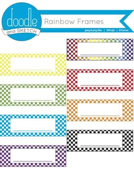 Header Checkered Frames {Rainbow Variety}