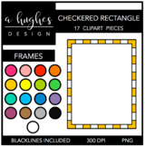 Checkered Rectangle Frames Clipart {A Hughes Design}