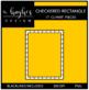 Checkered Rectangle Frames Clipart {A Hughes Design}