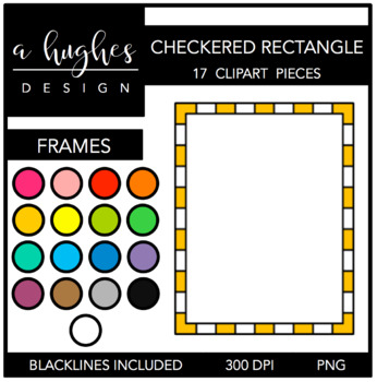 Checkered Rectangle Frames {Graphics for Commercial Use}