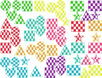 Checkered Shapes Clip Art