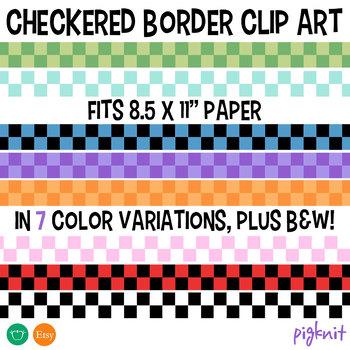Checkers Border Clip Art Pattern