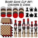 Checkers & Chess | Board Game Clip Art