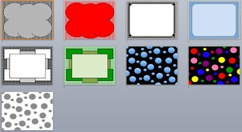 Checkers, Circles, and Lines Borders and Background graphics - Commercial Use