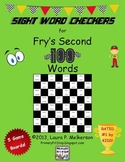 5 Checkers Game Boards for Fry's SECOND 100 Sight Words