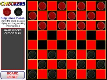 Checkers Game Flipchart