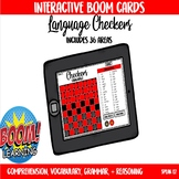 Checkers Interactive Boom Card Game for Language
