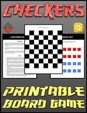 Checkers Printable Board Game (Editable Google Slides)