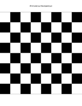 graphic relating to Printable Checkers Board named Checkers Printable Board Recreation (Editable Google Slides)