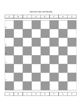 Checkers and Chessboard