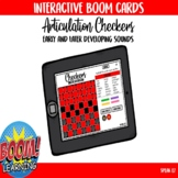 Checkers Interactive Boom Card Game for Articulation